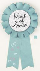 Bride To Be Hen Party Award Ribbon 'Maid Of Honour'